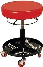 Taburete de trabajo ajustable/regulable en altura con ruedas para taller mecanico y casa - Asiento de FOAM ACOLCHADO - RZ TOOLS