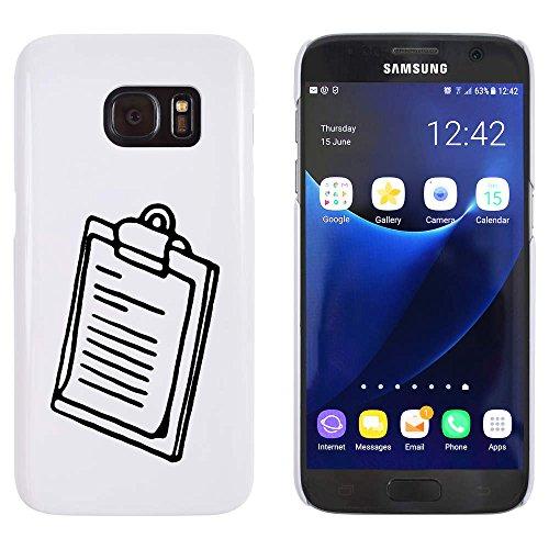 Azeeda Weiß \'Zwischenablage\' Hülle für Samsung-Galaxie S7 (MC00054544)