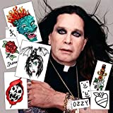 Ozzy Osbourne Temporary Tattoos | REALISTIC | Life-Sized | MADE IN THE USA