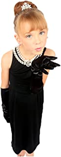 Girl's Audrey Style Black Dress Costume Inspired by Breakfast at Tiffany's