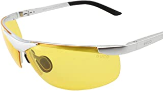 DUCO HD Anti Glare Night-vision Headlight Polarized Al-Mg Metal Frame Glasses for Driving