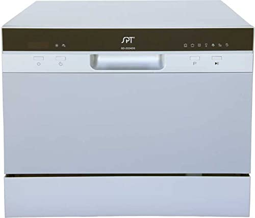 SPT SD-2224DS ENERGY STAR Compact Countertop Dishwasher with Delay Start - Portable Dishwasher with Stainless Steel I...