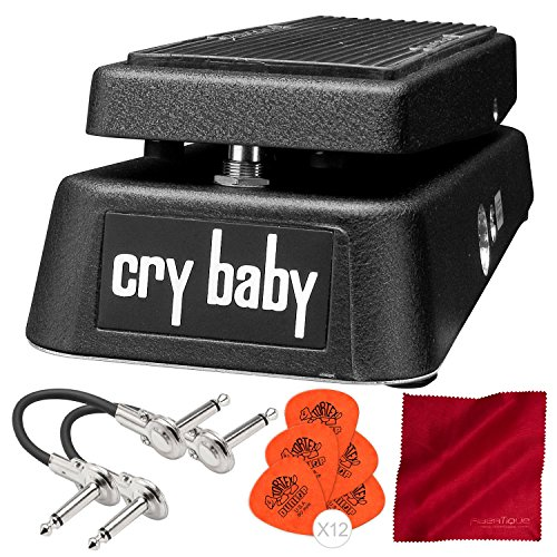 Dunlop GCB95 Cry Baby Wah Guitar Effects Pedal with Deluxe Accessory Bundle
