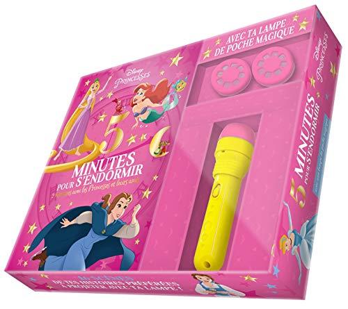 DISNEY PRINCESSES - Coffret 5 Minutes pour S endormir - 5 Histoires Princesses et leurs Amis: avec lampe projecteur