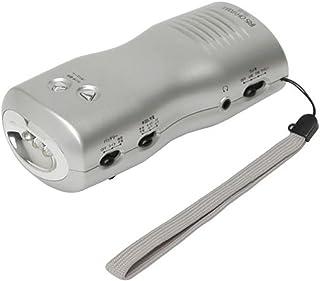 アイリスオーヤマ 防災グッズ 非常用ラジオ ライト 手回し充電 JTL-23