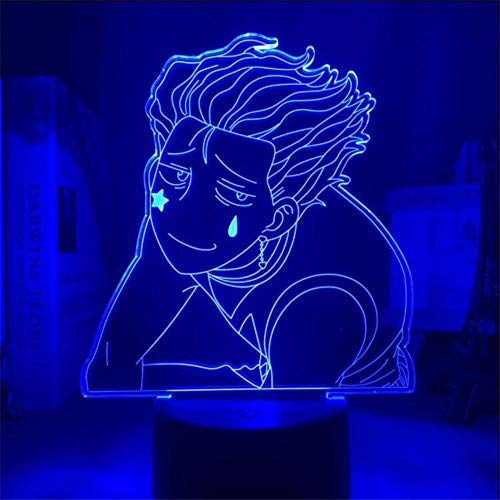 Hunter X Hunter 3D Light Night Lamp Atmosphere Hisoka Cute Light Home Decor Lampara Anime Lampe Lights Kids Xmas Gifts Cool Toy Led 7 Color Changing Bedroom Decor Touch TIEHENG