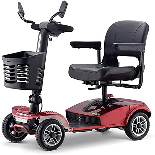 Fly YUTING Handiced Mobile 4 Wheel Atto Plegable Pequeño Mobility Scooter Power Power Bike para Adultos ✅