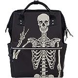 G.H.Y Menschliches Skelett Schädel Multifunktions Wickeltaschen Rucksack Reisetasche
