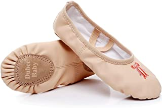 DubeeBaby Leather Ballet Shoes for Girls,Ballet Slippers Flats Dance Shoes(Toddler/Little Kid/Big Kid)