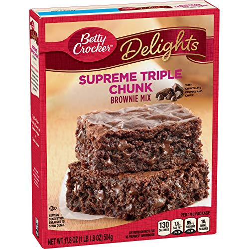 Betty Crocker Delights Triple Chunk Supreme Brownie Mix 178 oz