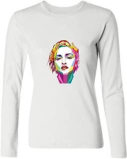 Madonna Success Artist Long-Sleeve Cotton Cool T-Shirt Womens XXL