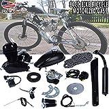 ttbero Full 80CC Bicycle Engine Kit, Motorized Bike 2-Stroke, Petrol Gas Engine Kit, Black (Shipped from US)