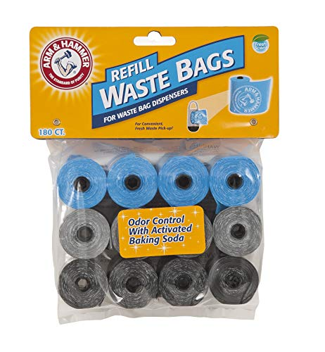 180-Pack Arm & Hammer Disposable Waste Bag Refills  $6.40 at Amazon
