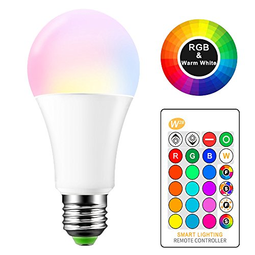E27 RGB LED Cambio de color Lámpara 15 W bombillas de colores con...