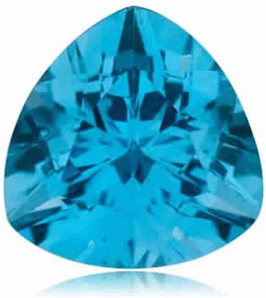 Mysticdrop 0.88-1.73 Cts of 7 mm Trillion Topaz Max Ranking TOP9 87% OFF Blue AAA Swiss
