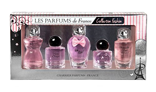 Charrier Parfums Les Parfums de France, Collection Fashion, Coffret de 5 Eau de Parfums Miniatures, 49,7 ml