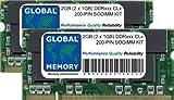 2GB (2 x 1GB) DDR 266/333MHz 200-PIN SODIMM Memoria RAM Kit para Aluminio POWERBOOK G4