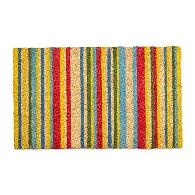 J&M Home Fashions Natural Coir Coco Fiber Non-Slip Outdoor/Indoor Doormat