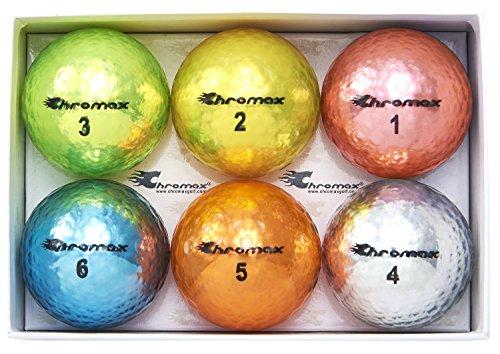 Chromax Golfbälle Metallic M5, bunt - 6 Stück, BCM56-ASST, Sortiert