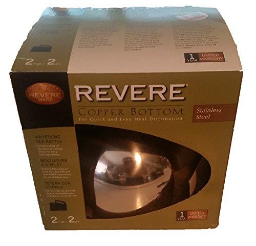 Whistling Teakettle 2-1/3 Qt. Copper Bottom, Stainless Steel by Revere