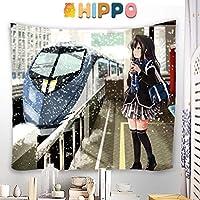 HIPPO タペストリー やはり俺の青春ラブコメはまちがっている。 雪ノ下雪乃 大判壁掛け ポスター アニメの絵 掛ける絵 背景布け 多機能 インテリア 装飾用品 漫画 HD プレゼント カスタム可能 100 x 100cm