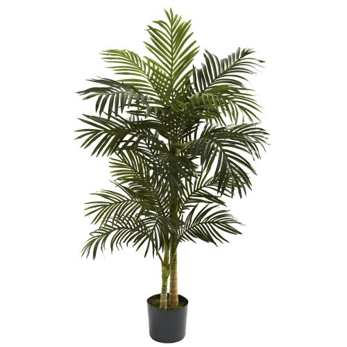 Nearly Natural 5ft. Golden Cane Palm Artificial Tree, Green