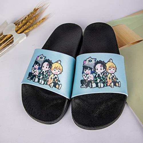 Demon Slayer Slippers for Men Women Kamado Tanjirou Nezuko Merch Non-Slip Anime Cosplay Slide Sandals Gifts