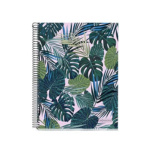 Miquelrius 46750 Notebook A5 140 Striped Horizontal Tropical