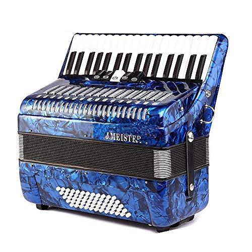 M-zutx 60 Bajo 34 Clave 5 Sintonizador Acordeones de piano Azul Niños Práctica...