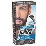 Just for men Moustache & Beard eliminiert Grau für einen dickeren und volleren Look - M55, Schwarz...