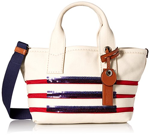 Marc by Marc Jacobs St Tropez Small Tote, Ecru/Breton Red
