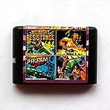 Aditi 4in1 Midnight Resistance+Rambo III+Pro-am Championship+Golden Axe II 16 bit SEGA MD Game Card For Sega Mega Drive For Genesis