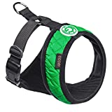 Gooby Fashion Vest Harness for Broad Chested Dogs, Green, X-Small