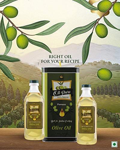 Oli Pure Natural Pomace Best Cooking Olive Oil, 1L