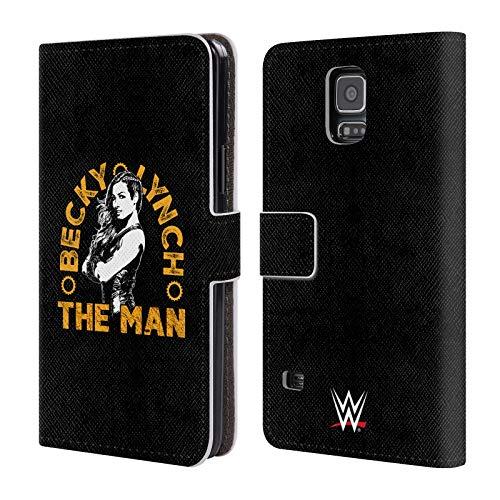 Head Case Designs Offizielle WWE Bild 2 Becky Lynch The Man Leder Brieftaschen Huelle kompatibel mit Samsung Galaxy S5 / S5 Neo