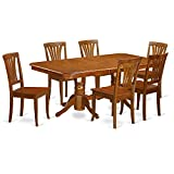 7 Pc formal Dining room set-Dining Table and 6 Kitchen Dining Chairs