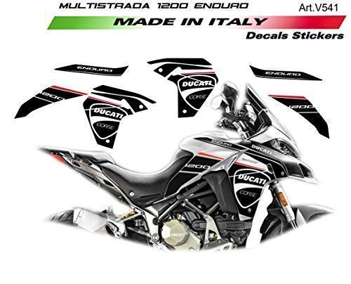 Vulturbike Aufkleber Maßgeschneidert Für Ducati Multistrada 1200 Enduro Black
