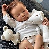 FGHJQ Bebe Reborn Kit de 18 pulgadas Reborn Baby Kit Levi vinilo sin pintar piezas de muñeca sin terminar DIY Kit de muñeca en blanco