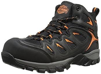 HARLEY-DAVIDSON FOOTWEAR Men s Woodridge CT Black/Orange 10 M US