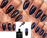 Bluesky xtc11camaleón cambia de color oscuro marrón a azul, con sutiles con purpurina para uñas UV LED Soak Off Plus 2homebeautyforyou brillo toallitas