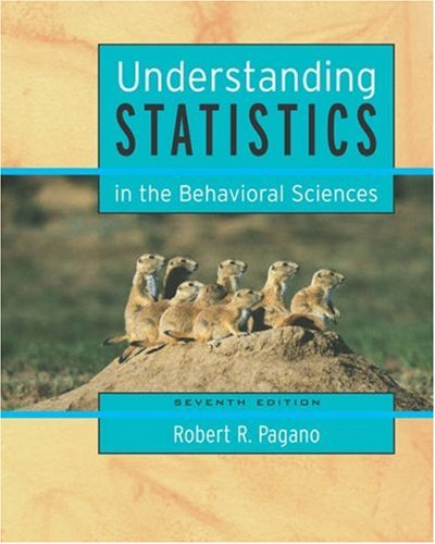 Understanding Statistics in the Behavioral Sciences (with CD-ROM and InfoTrac) (Available Titles CengageNOW)