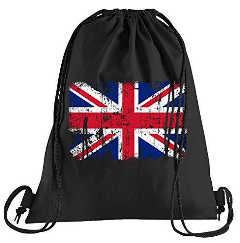 T-Shirt People Union Jack Vintage Flagge Fahne Sportbeutel – bedruckter Beutel – eine schöne Sport-Tasche Beutel mit Kordeln