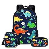 Mochila para niños de dibujos animados dinosaurios bolsas de escuela para niñas niños niños mochila 3 unids/set niños libro bolsa mochilas ortopédicos estudiante mochilas