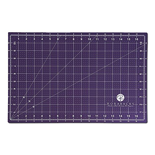 RORABACKS Premium Pleasantly Purple Self Healing Cutting Mat for Rotary Cutters and Quilting Rulers (11x17, Purple)