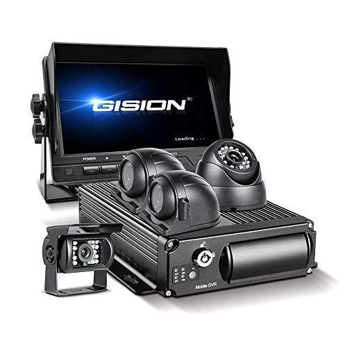 GISION MDVR Kit 4 del coche del vehículo del canal móvil 1080P DVR Grabador Gsensor Con visión nocturna impermeable Negro