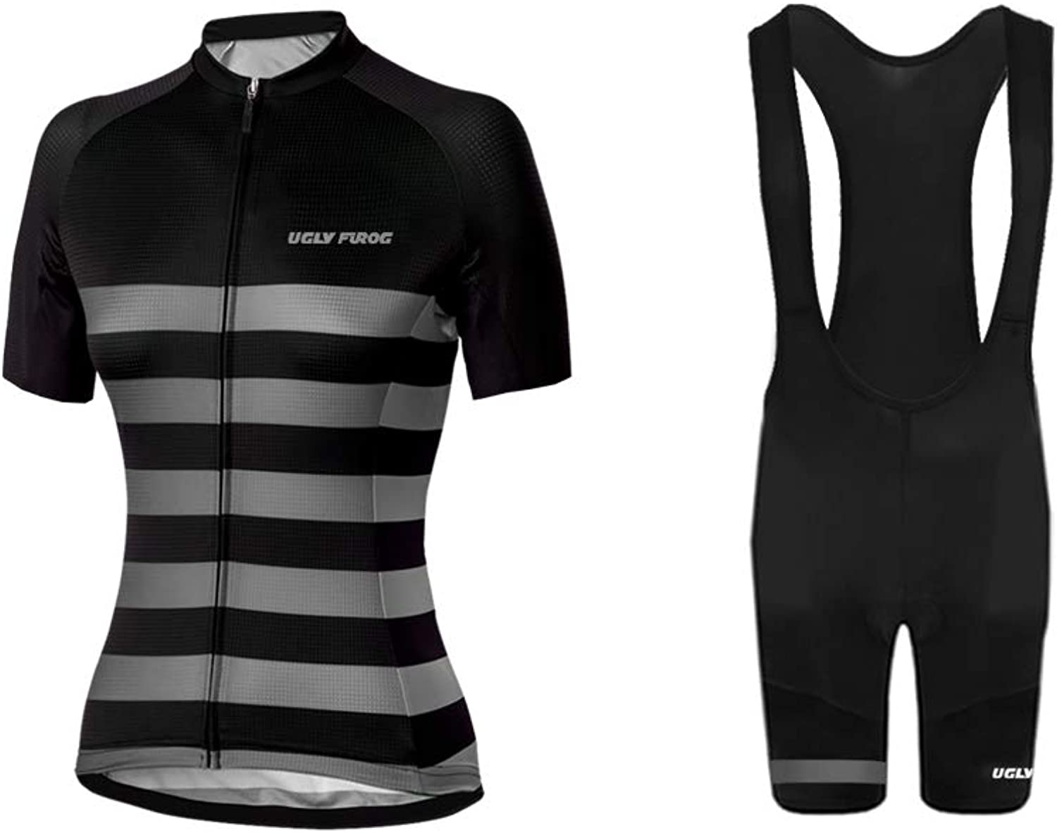 Uglyfrog Women's Cycling Jersey and 3D Padded Shorts Short Sleeve Sets XSVX01S