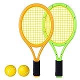 Best Kids Tennis Rackets - RuiyiF Kids Tennis Racket Set with Ball, Plastic Review