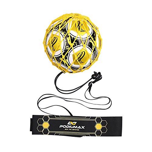 PodiuMax Solo Fußball Kick Trainer | Solo Soccer Trainer | Perfekt für Größe 3/4/5 | mit Stabil & Einstellbarem Gürtel | Fussball Trainingsübung für Kinder, Anfänger