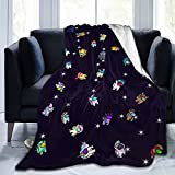 YUNDO Among Us Blanket Soft Cozy Throw Blankets Flannel Blankets for Couch Bed Living Room 40 X 50 Inch