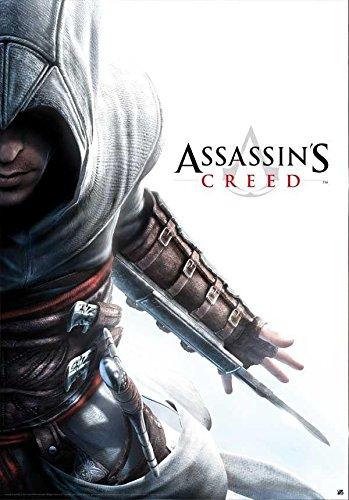 Póster Assassin's Creed/Credo de los Asesinos Altair Hidden Blade/Cuchillo escondido (68cm x 98cm) + 1 paquete de tesa Powerstrips® (20 tiras)